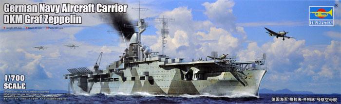 ドイツ海軍 航空母艦 グラーフ・ツェッペリンプラモデル(トランペッター1/700 艦船シリーズNo.06709)商品画像
