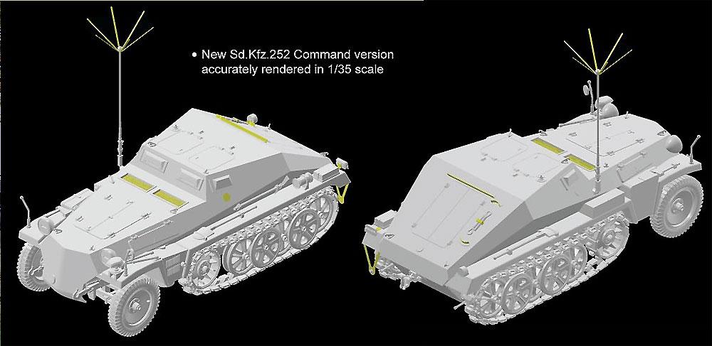 ドイツ Sd.Kfz.252 軽装甲観測車プラモデル(ドラゴン1/35 '39-'45 SeriesNo.6571)商品画像_3