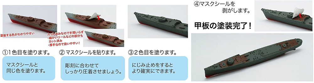 日本海軍 駆逐艦 白露 / 春雨 白露型武装強化時 カット済みマスクシール付きプラモデル(フジミ1/700 特シリーズ SPOTNo.特SPOT-086)商品画像_2