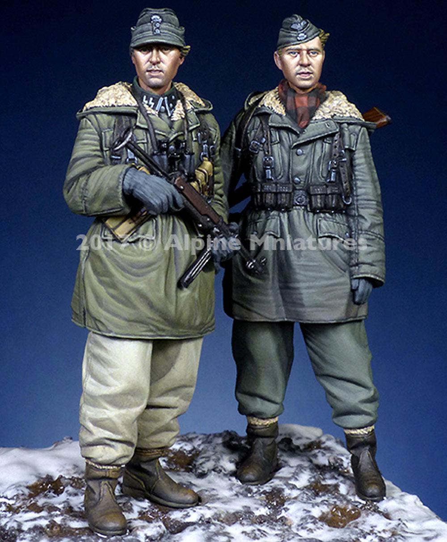 ドイツ 武装親衛隊 第3次ハリコフ戦 (2体セット)レジン(アルパイン1/35 フィギュアNo.AM35237)商品画像_4