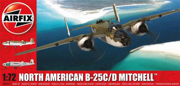 ノースアメリカン B-25C/D ミッチェルプラモデル(エアフィックス1/72 ミリタリーエアクラフトNo.A06015)商品画像