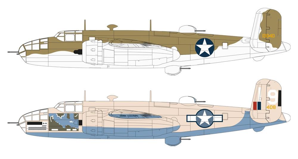 ノースアメリカン B-25C/D ミッチェルプラモデル(エアフィックス1/72 ミリタリーエアクラフトNo.A06015)商品画像_1