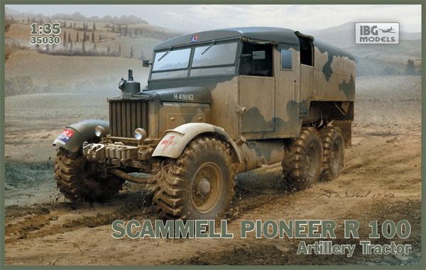 スキャメル パイオニア R100 重砲牽引車プラモデル(IBG1/35 AFVモデルNo.35030)商品画像