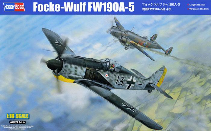 フォッケウルフ Fw190A-5プラモデル(ホビーボス1/18 エアクラフト シリーズNo.81802)商品画像