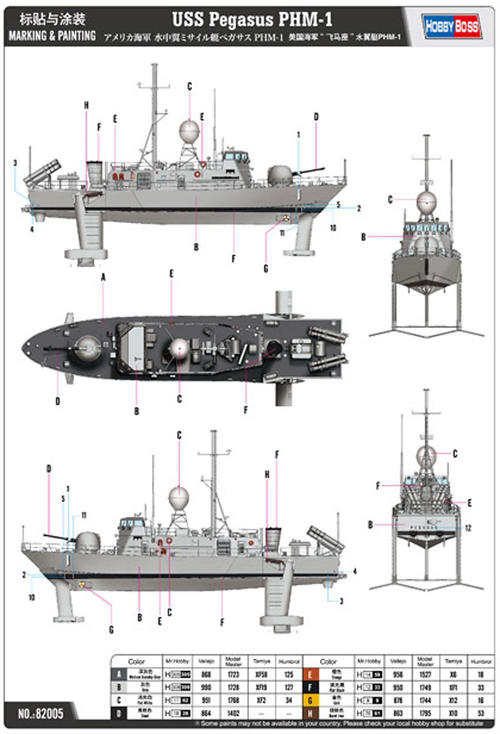 アメリカ海軍 水中翼ミサイル艇 ペガサス PHM-1プラモデル(ホビーボス1/200 潜水艦モデルNo.82005)商品画像_1