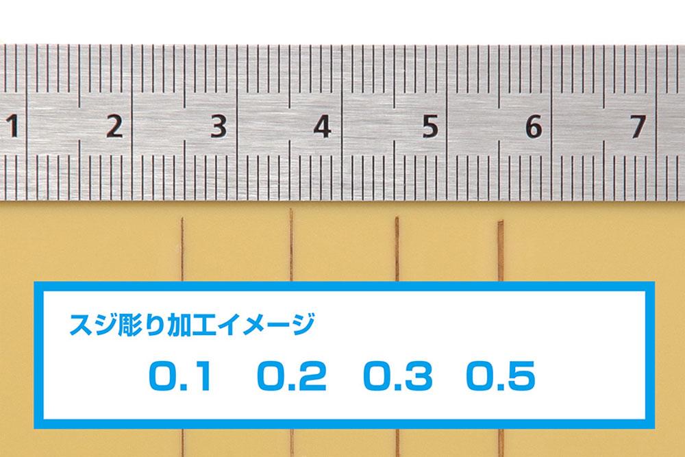 HG マイクロチゼルセット 刃4本 + グリップ (黒)チゼル(ウェーブホビーツールシリーズNo.HT-556)商品画像_3