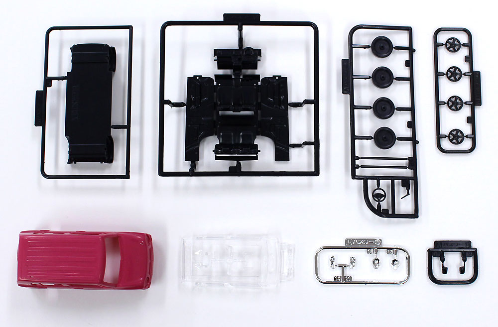 スズキ ハスラー キャンディピンクメタリックプラモデル(アオシマザ・スナップキットNo.001-B)商品画像_1
