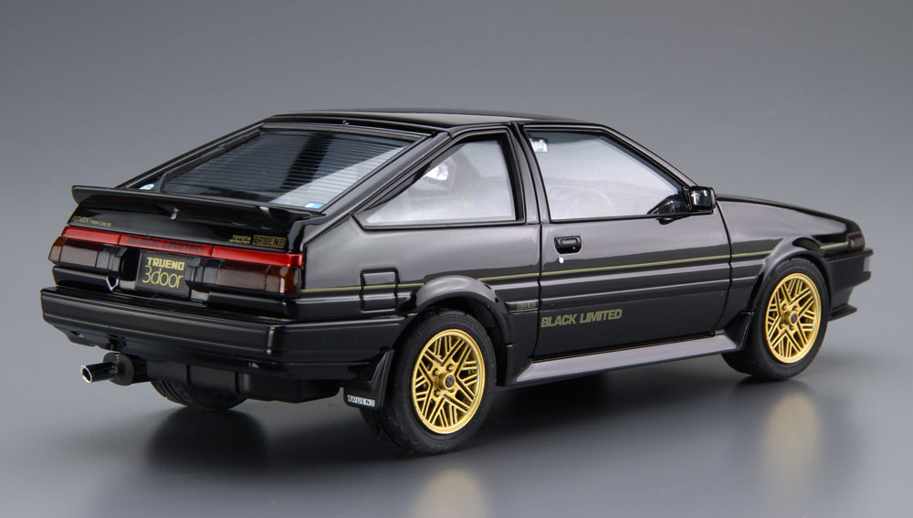 トヨタ AE86 スプリンター トレノ GT-APEX ブラックリミテッド '86プラモデル(アオシマ1/24 ザ・モデルカーNo.SP4905083054819)商品画像_3