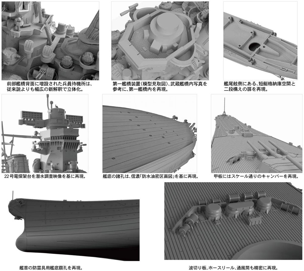 日本海軍 戦艦 大和 最終時プラモデル(ピットロード1/700 スカイウェーブ W シリーズNo.W200)商品画像_2