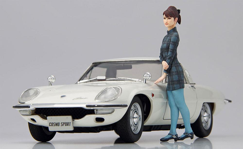 マツダ コスモスポーツ L10B w/60's ガールズフィギュアプラモデル(ハセガワ1/24 自動車 限定生産No.SP368)商品画像_3