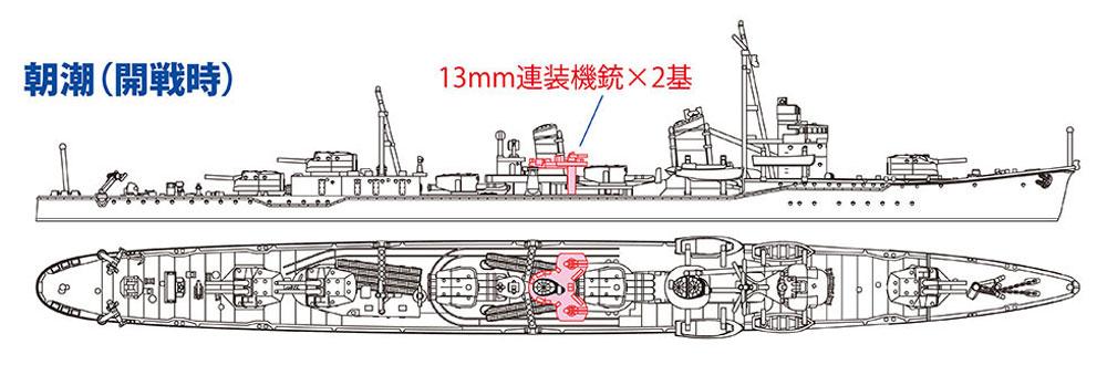 日本駆逐艦 朝潮プラモデル(ハセガワ1/700 ウォーターラインシリーズNo.463)商品画像_2