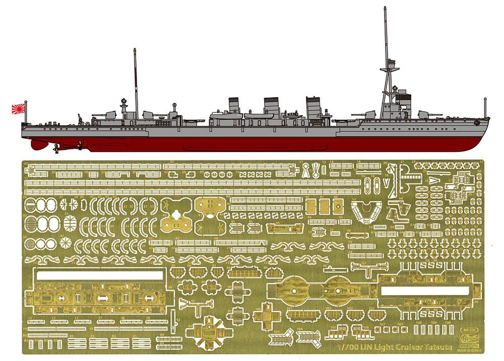 日本海軍 軽巡洋艦 龍田 フルハル スペシャルプラモデル(ハセガワ1/700 ウォーターラインシリーズ フルハルスペシャルNo.CH123)商品画像_1