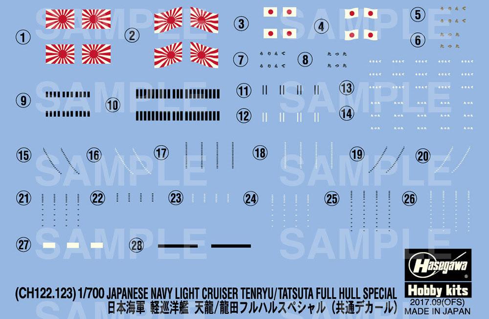日本海軍 軽巡洋艦 龍田 フルハル スペシャルプラモデル(ハセガワ1/700 ウォーターラインシリーズ フルハルスペシャルNo.CH123)商品画像_3