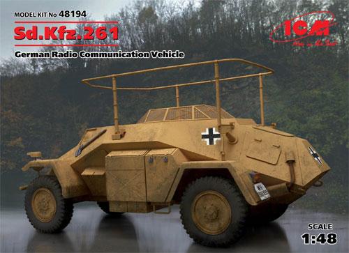 ドイツ Sd.Kfz.261 無線装甲車プラモデル(ICM1/48 ミリタリービークルNo.48194)商品画像