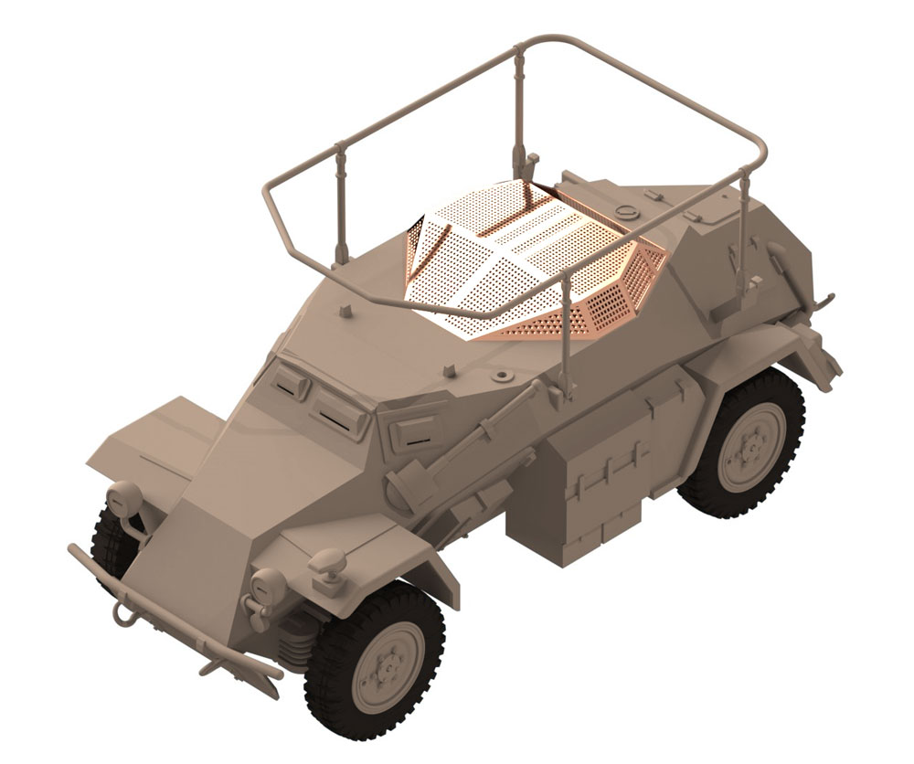 ドイツ Sd.Kfz.261 無線装甲車プラモデル(ICM1/48 ミリタリービークルNo.48194)商品画像_3