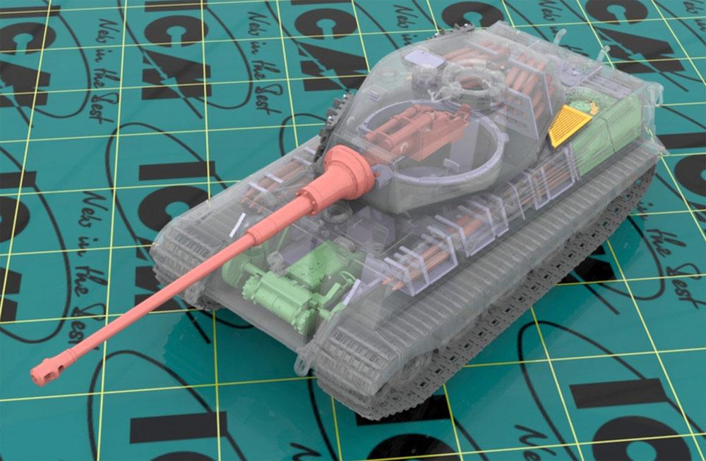 キングタイガー 後期型 w/フルインテリアプラモデル(ICM1/35 ミリタリービークル・フィギュアNo.35364)商品画像_2