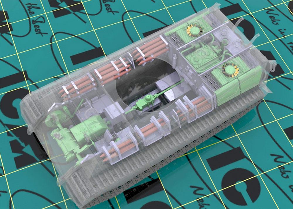 キングタイガー 後期型 w/フルインテリアプラモデル(ICM1/35 ミリタリービークル・フィギュアNo.35364)商品画像_3