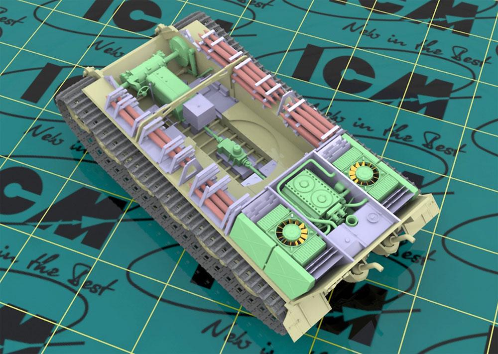 キングタイガー 後期型 w/フルインテリアプラモデル(ICM1/35 ミリタリービークル・フィギュアNo.35364)商品画像_4