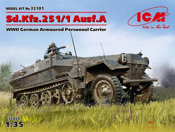 ドイツ Sd.Kfz.251/1 Ausf.A 装甲兵員輸送車プラモデル(ICM1/35 ミリタリービークル・フィギュアNo.35101)商品画像