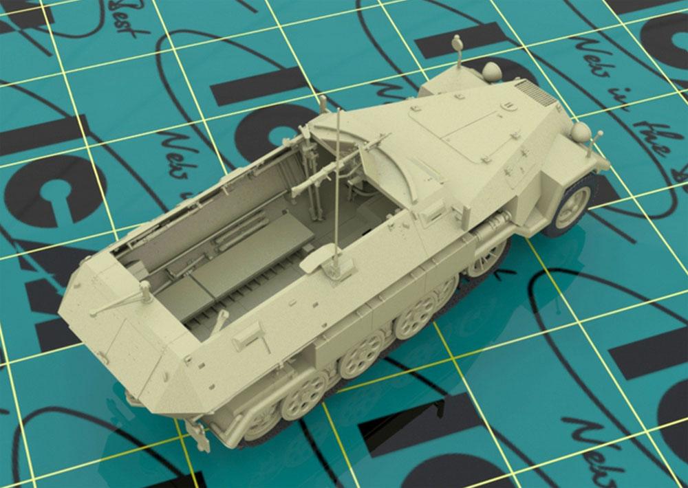 ドイツ Sd.Kfz.251/1 Ausf.A 装甲兵員輸送車プラモデル(ICM1/35 ミリタリービークル・フィギュアNo.35101)商品画像_3