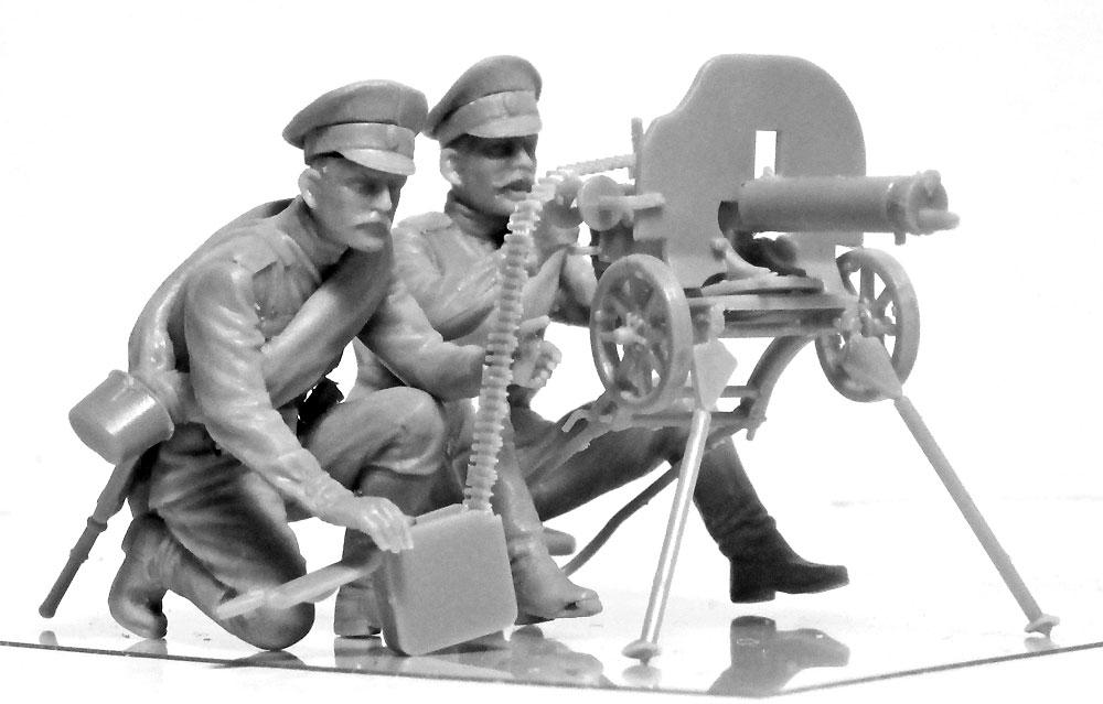 WW1 ロシア マキシム機関銃チームプラモデル(ICM1/35 ミリタリービークル・フィギュアNo.35698)商品画像_2
