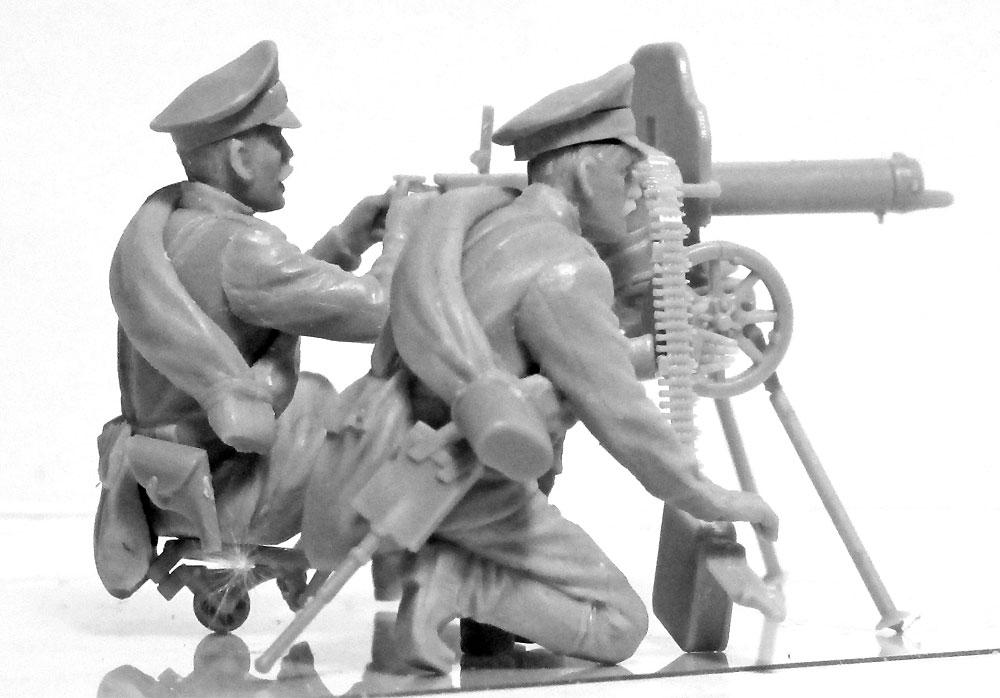 WW1 ロシア マキシム機関銃チームプラモデル(ICM1/35 ミリタリービークル・フィギュアNo.35698)商品画像_3
