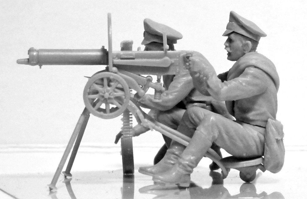 WW1 ロシア マキシム機関銃チームプラモデル(ICM1/35 ミリタリービークル・フィギュアNo.35698)商品画像_4