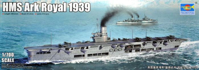 イギリス海軍 航空母艦 アーク ロイヤル 1939プラモデル(トランペッター1/700 艦船シリーズNo.06713)商品画像