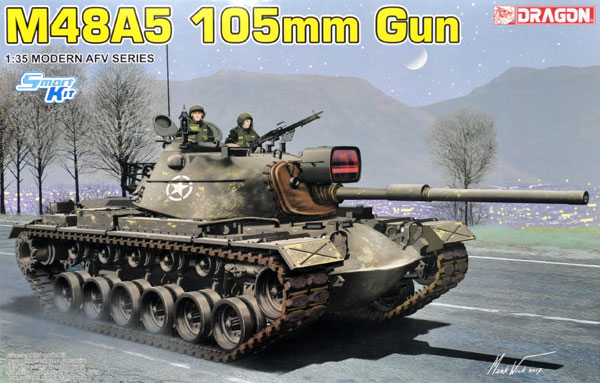 M48A5 パットン 105mm砲プラモデル(ドラゴン1/35 Modern AFV SeriesNo.3611)商品画像