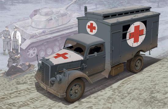 ドイツ 3トン 4×2 トラック 野戦救急車プラモデル(ドラゴン1/35