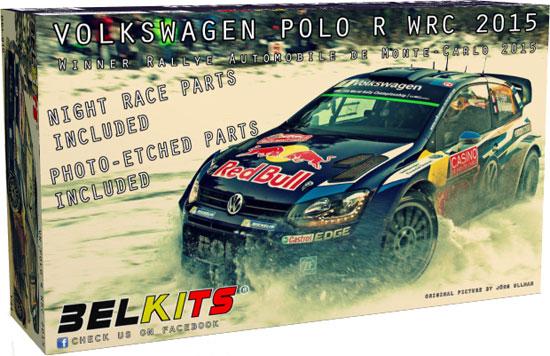 フォルクスワーゲン ポロ R WRC 2015プラモデル(BELKITS1/24 PLASTIC KITSNo.BEL-010)商品画像