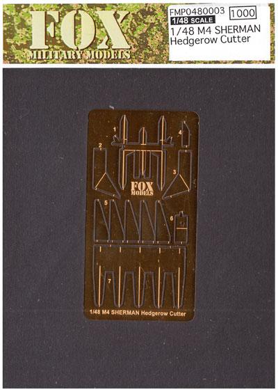 M4 シャーマン ヘッジロウカッターエッチング(フォックスモデル (FOX MODELS)1/48 ディテールアップパーツNo.FMP048003)商品画像