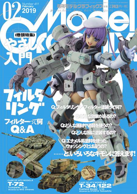 モデルグラフィックス 2019年2月号雑誌(大日本絵画月刊 モデルグラフィックスNo.411)商品画像