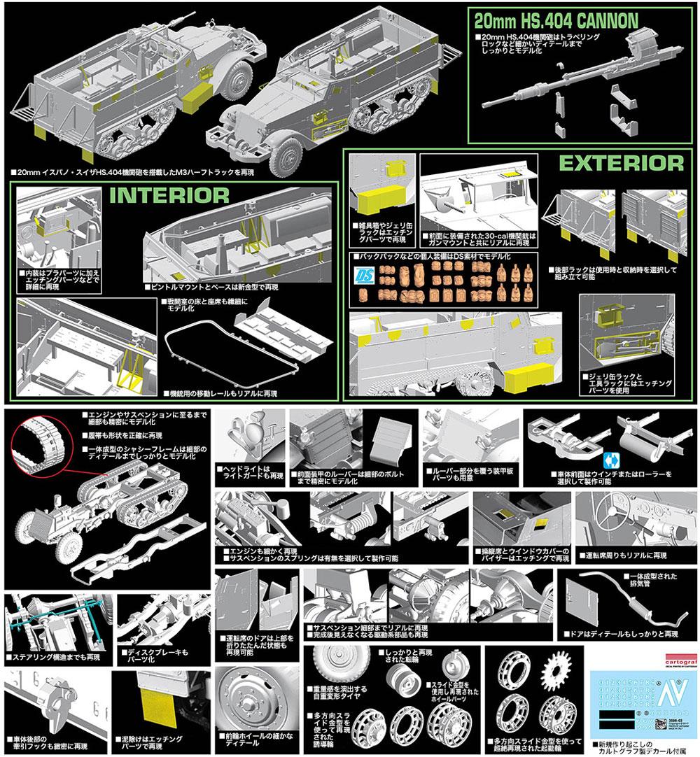 IDF M3ハーフトラック w/20mm イスパノ・スイザ HS.404機関砲プラモデル(ドラゴン1/35 MIDDLE EAST WAR SERIESNo.3598)商品画像_4