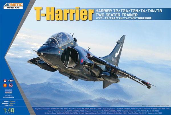 ハリアー T2/T2A/T2N/T4/T4N/T8 複座練習機プラモデル(キネティック1/48 エアクラフト プラモデルNo.K48040)商品画像