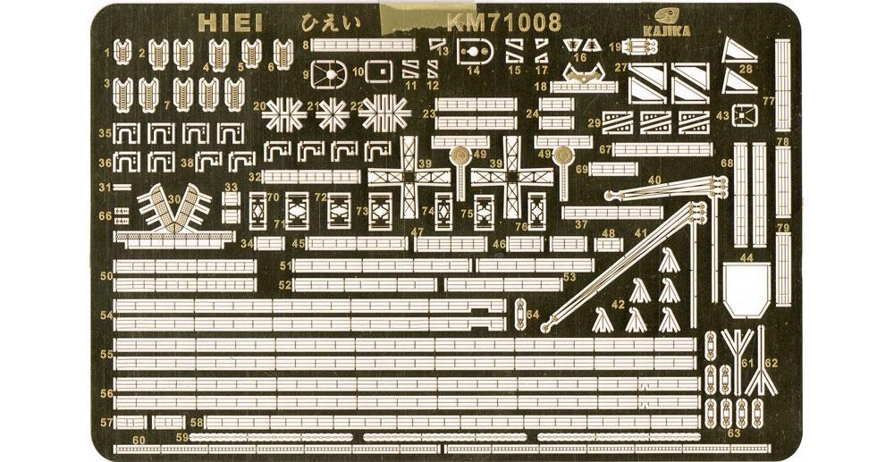 日本海軍 巡洋戦艦 比叡 1915年 エッチングパーツエッチング(カジカディテールアップパーツ シリーズNo.KM71008)商品画像_1