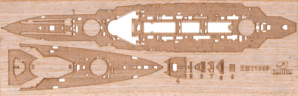 日本海軍 超弩級巡洋戦艦 比叡 1915年 木製甲板甲板シート(カジカディテールアップパーツ シリーズNo.KM71009)商品画像_1