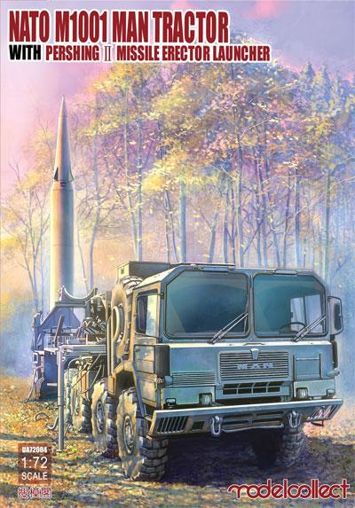NATO M1001 トラクター w/パーシング2 ミサイル エレクターランチャープラモデル(モデルコレクト1/72 AFV キットNo.UA72084)商品画像