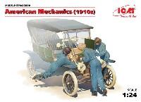 ICM1/24 カーモデルアメリカ 女性整備士 1910