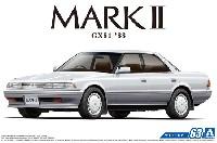 アオシマ1/24 ザ・モデルカートヨタ GX81 マーク 2 グランデツインカム24 '88