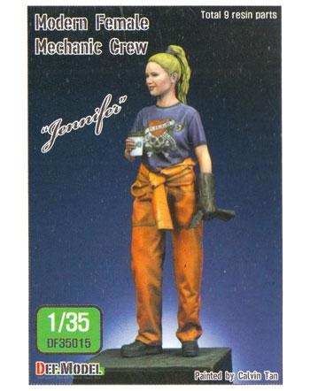 女性メカニック ジェニファーレジン(DEF. MODEL1/35 フィギュアNo.DF35015)商品画像