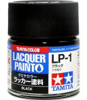 LP-1 ブラック塗料(タミヤタミヤ ラッカー塗料No.LP-001)商品画像