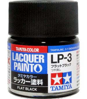 LP-3 フラットブラック塗料(タミヤタミヤ ラッカー塗料No.LP-003)商品画像