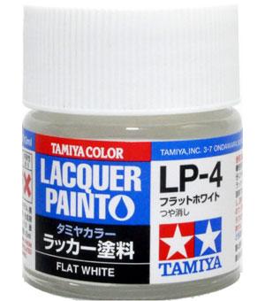 LP-4 フラットホワイト塗料(タミヤタミヤ ラッカー塗料No.LP-004)商品画像