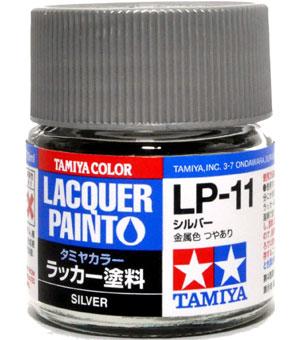 LP-11 シルバー塗料(タミヤタミヤ ラッカー塗料No.LP-011)商品画像
