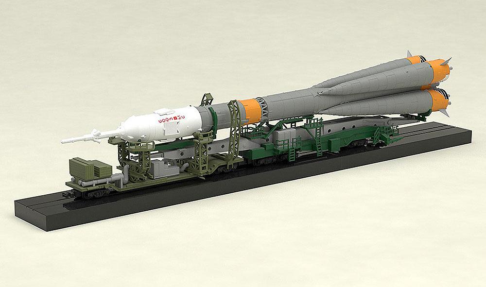 ソユーズロケット + 搬送列車プラモデル(マックスファクトリープラスチックモデルNo.93367-4)商品画像_2