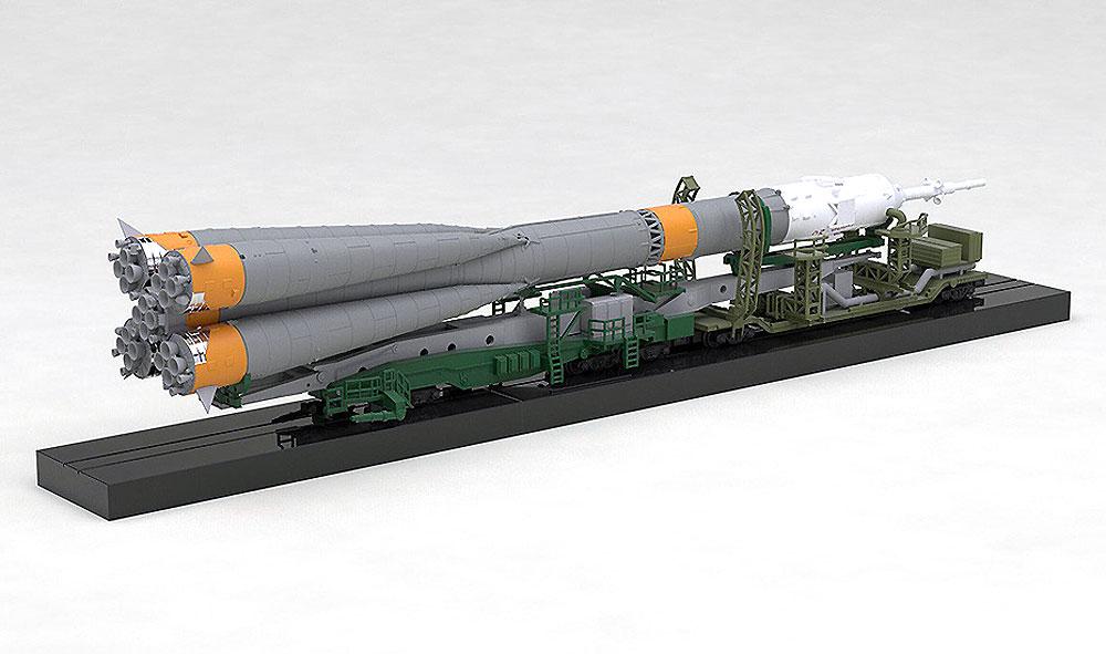 ソユーズロケット + 搬送列車プラモデル(マックスファクトリープラスチックモデルNo.93367-4)商品画像_3