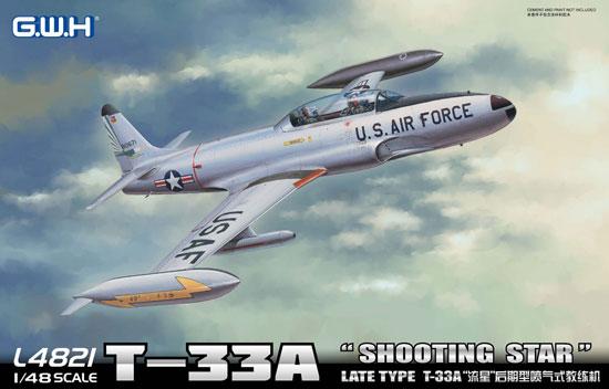 T-33A シューティングスター 後期型プラモデル(グレートウォールホビー1/48 ミリタリーエアクラフト プラモデルNo.L4821)商品画像