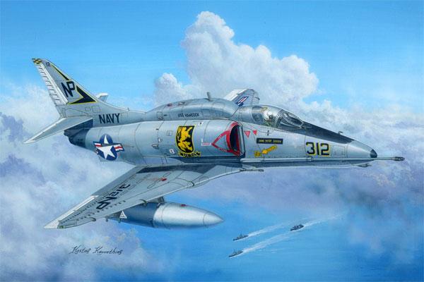 A-4F スカイホークプラモデル(ホビーボス1/48 エアクラフト プラモデルNo.81765)商品画像
