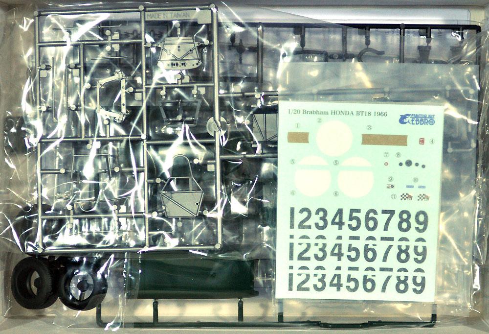 ブラバム BT18 ホンダ F2 1966 F2 チャンピオン プラモデル(エブロ1/20 MASTER SERIES F-1No.022)商品画像_1